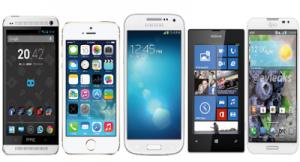 Verschiedene Smartphones