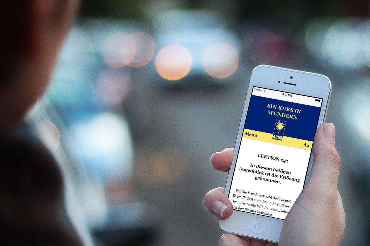 Lektionen-Webseite auf iphone